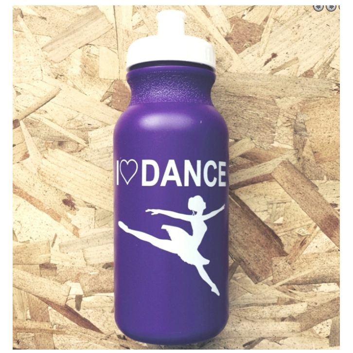 Ditto Dancewear I Love Dance Drink Bottle - Purple