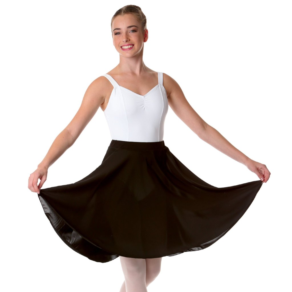 Studio 7 Adult's Long Circle Skirt - Black