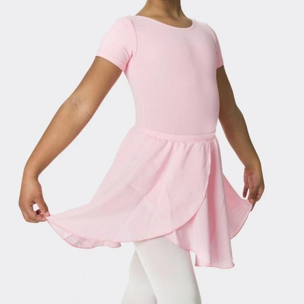Studio 7 Children's Mock Wrap Skirt - Pale Pink