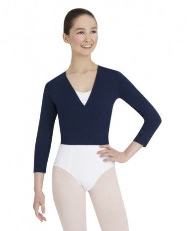 Capezio Children's Tactel Wrap Top - Navy
