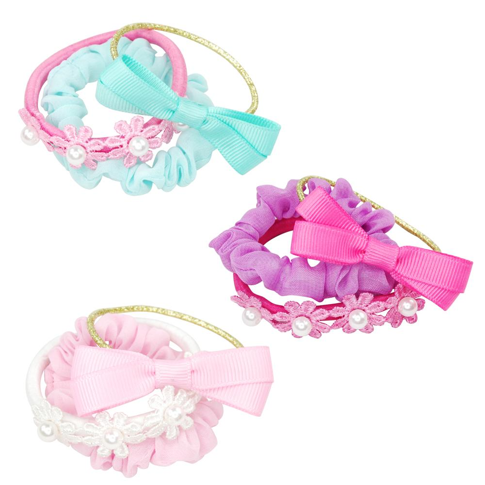 Pink Poppy Pastel Delight Scrunchie Set - Assorted