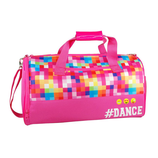 Pink Poppy Pixel Dance Carry All Bag - Hot Pink