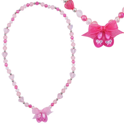 Pink Poppy Pretty Ballet Shoe Necklace