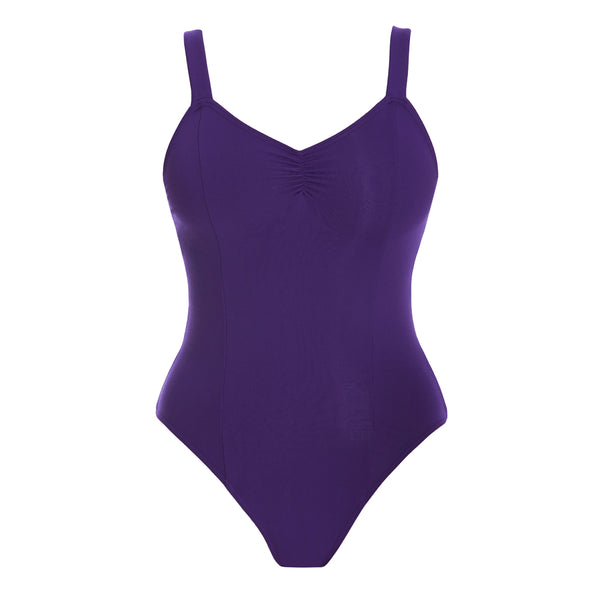 PW Dancewear Adult's Rani Wide Strap Leotard - Purple