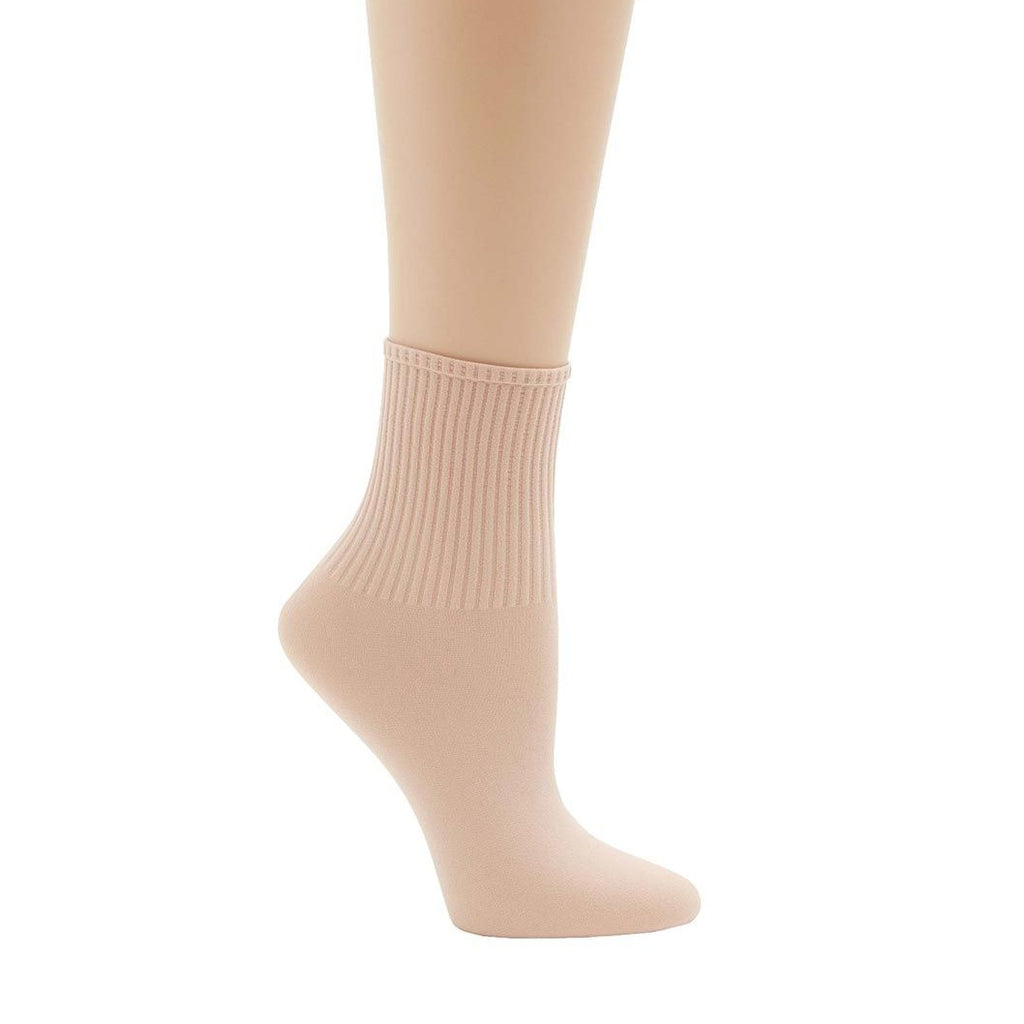 Capezio Ribbed Dance Sock - Ballet Pink
