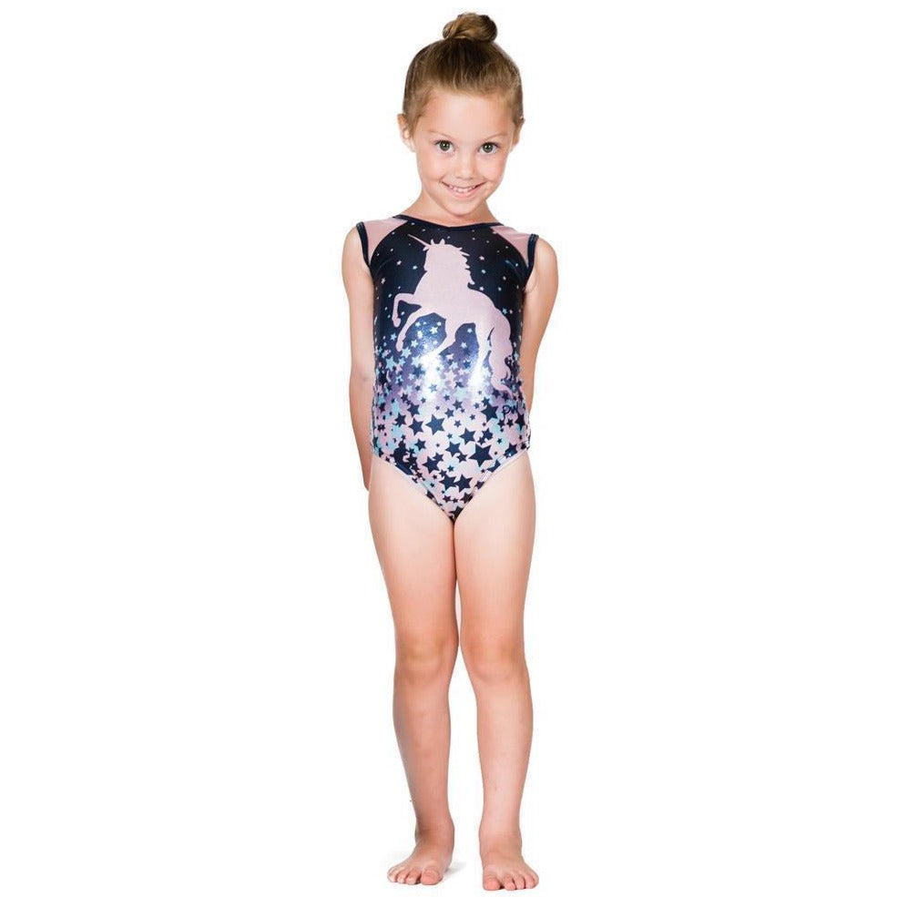 PW Dancewear Children's Gymnastics Leotard - Unicorn