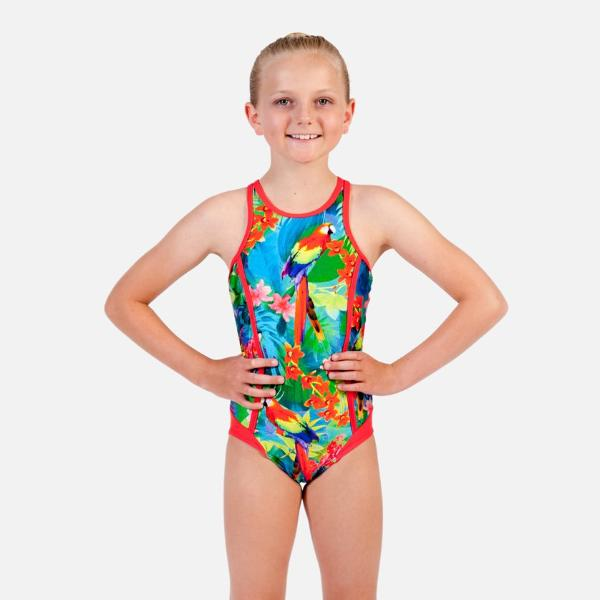 Ditto Dancewear Going Troppo Sporty One Piece Swimsuit
