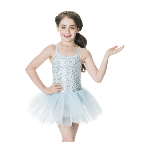 Studio 7 Children's Sequin Tutu Dress - Pale Blue
