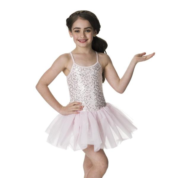 Studio 7 Children's Sequin Tutu Dress - Pale Pink