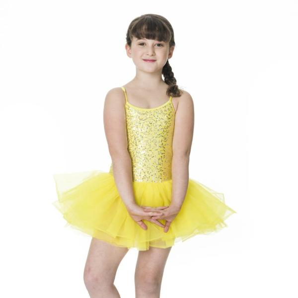 Studio 7 Children's Sequin Tutu Dress - Yellow