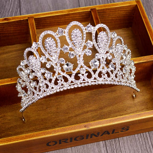 Ditto Dancewear Silver Crown Gem Tiara