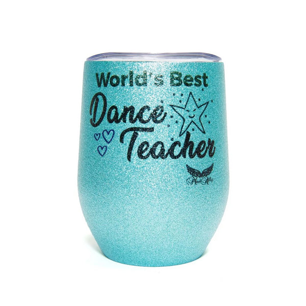 Stemless Glitter Cup Dance Teacher - Blue