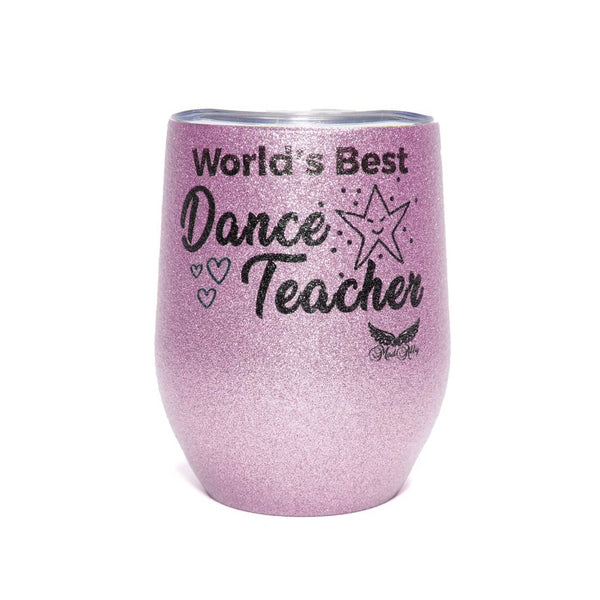 Stemless Glitter Cup Dance Teacher - Pink