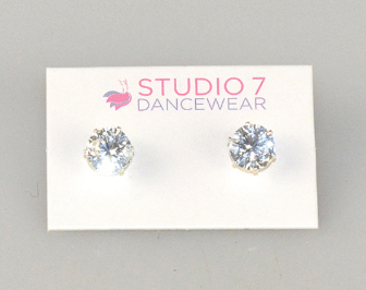Studio 7 Crystal Stud Earrings - 8mm