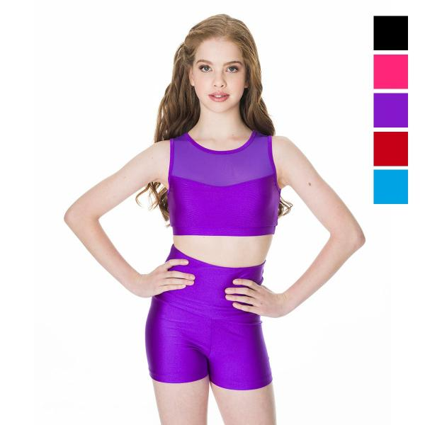 Studio 7 Children's High Waisted Shorts - Purple