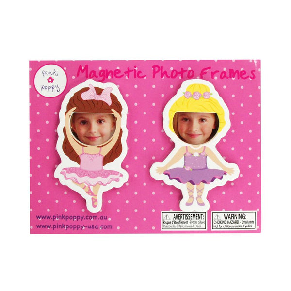Pink Poppy Ballerina Magnet Photo Frames