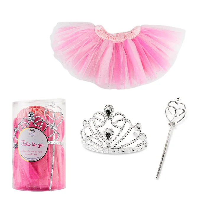Tutu To Go Set with Tiara & Wand - Fantasy Pink