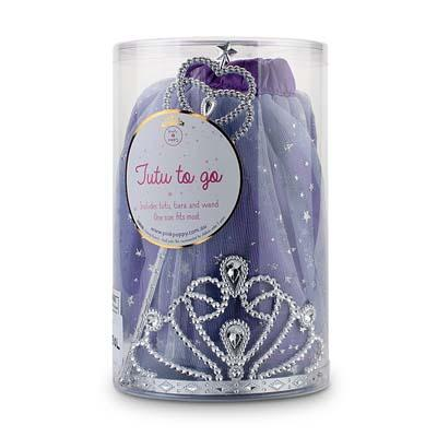 Pink Poppy Tutu To Go Set with Tiara & Wand - Twinkling Star Purple