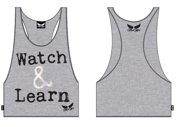 Mad Ally Children's Watch & Learn Singlet - Grey