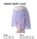 PW Dancewear Children's Lace Wrap Skirt - PORT