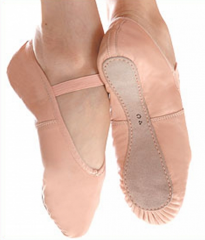 Leather Ballet Flat - Pink - Childs - Ditto Dancewear