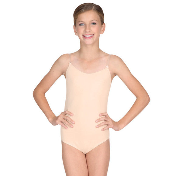 Childrens Camisole w/Clear Straps - Ditto Dancewear