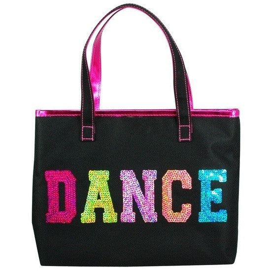 Pink Poppy Dance In Style Tote Bag - Black