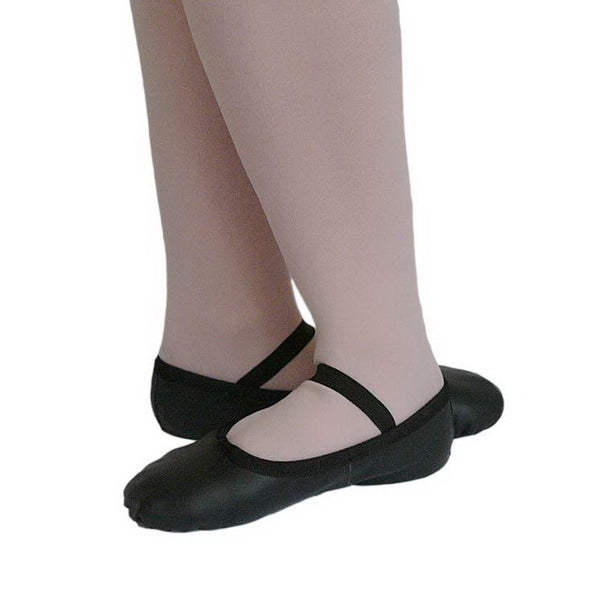 Leather Ballet Flat - Black  - Adults - Ditto Dancewear