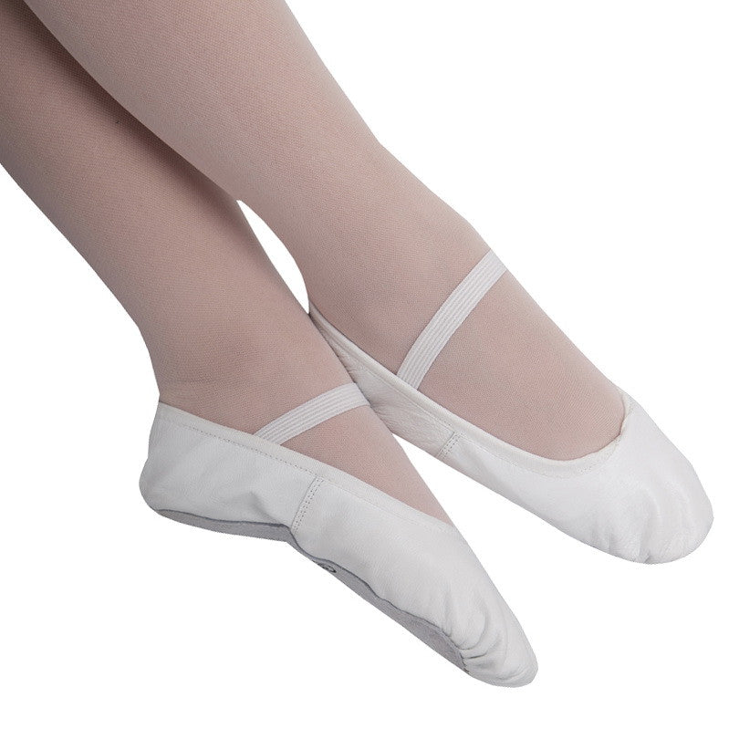 Leather Ballet Flat - White  - Adults - Ditto Dancewear