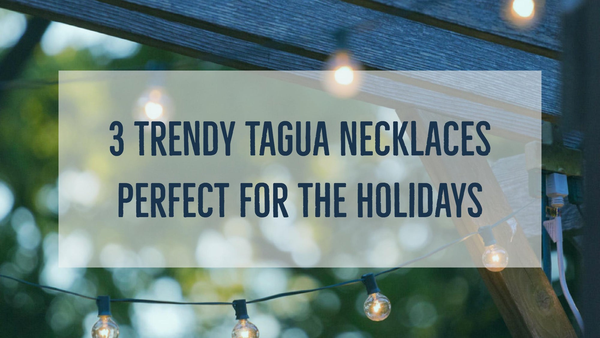 3 Trendy Tagua Necklaces Perfect for Holiday Fashion