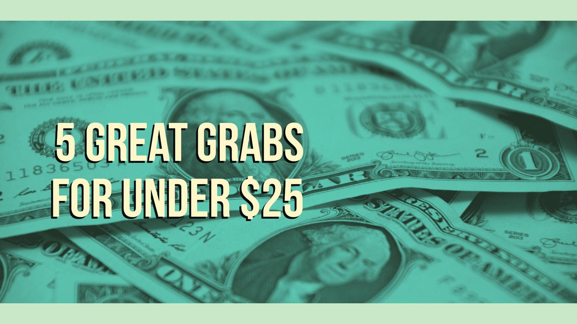 5 Great Grabs for Under $25