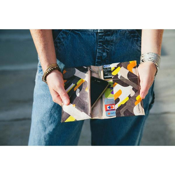 Tyvek Ladies Clutch Paperwallet Yellow