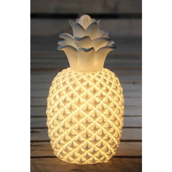 Porcelain Pineapple Lamp
