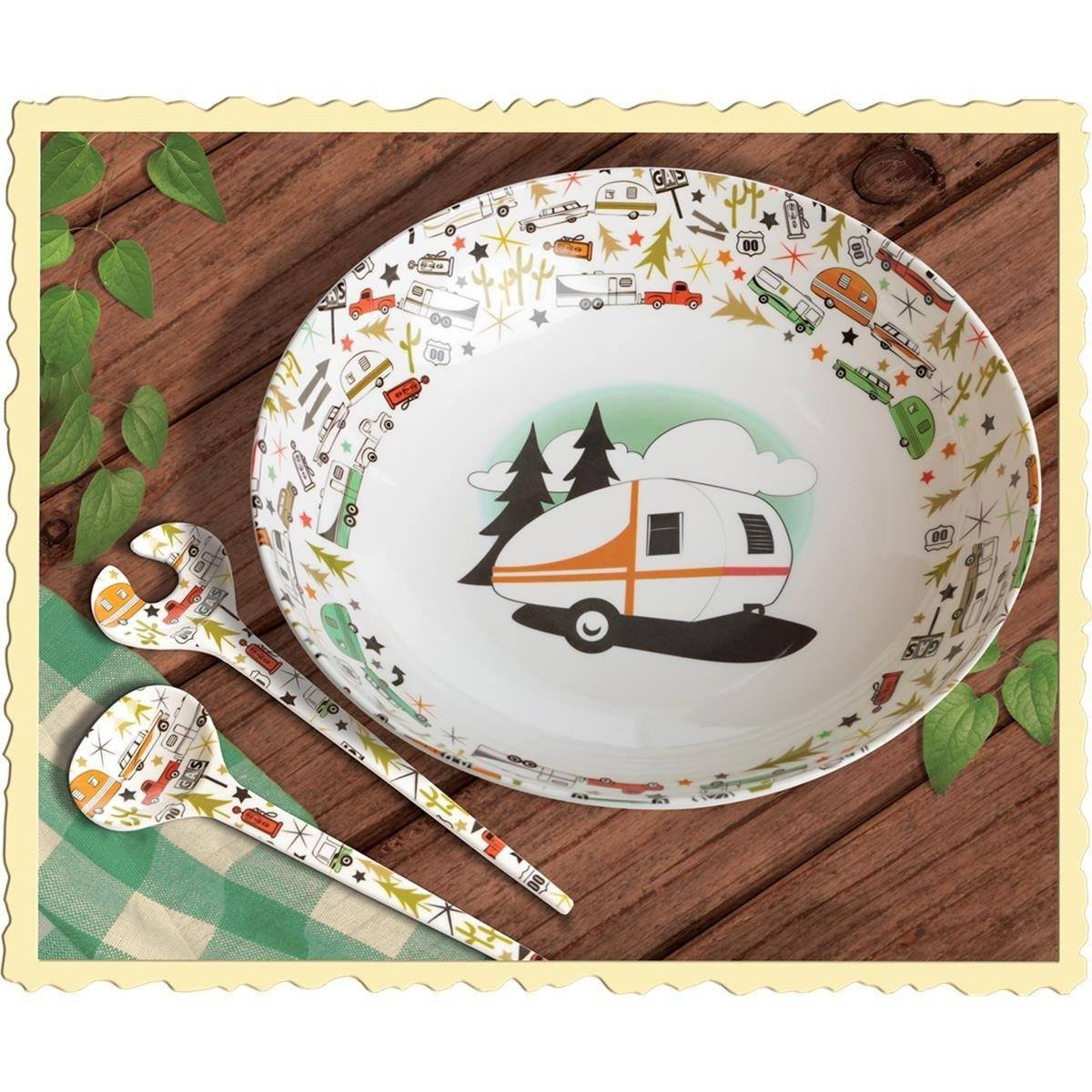 Serving Bowl & Servers Camping Set