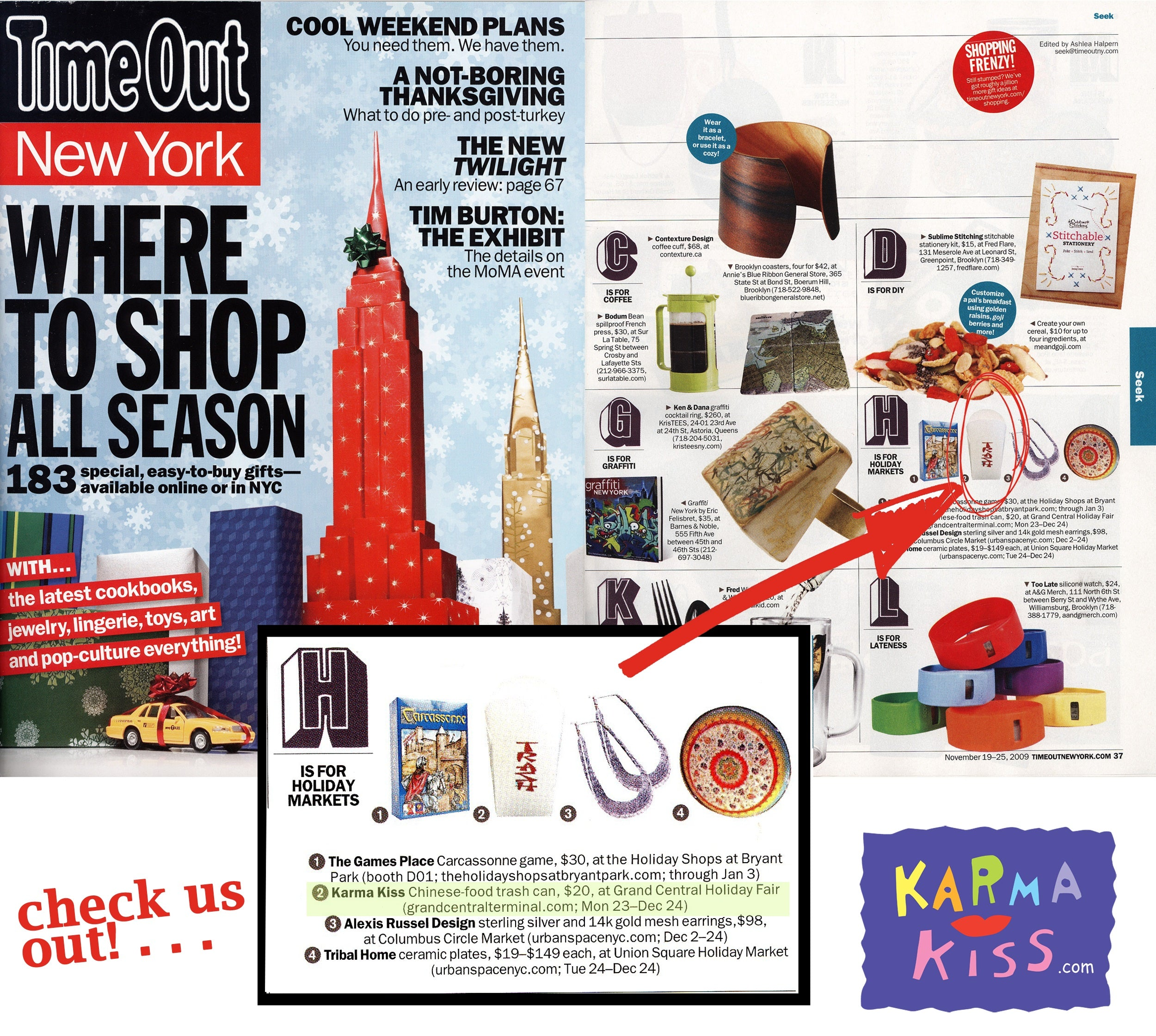 Karma Kiss Featured in Time Out New York
