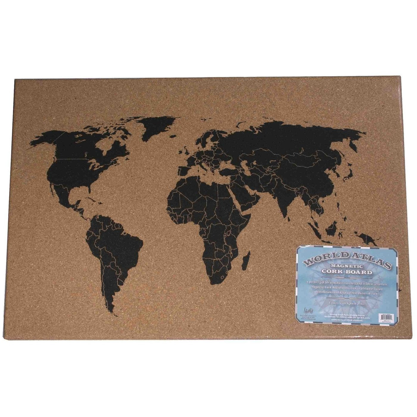 World Atlas Message Cork Board
