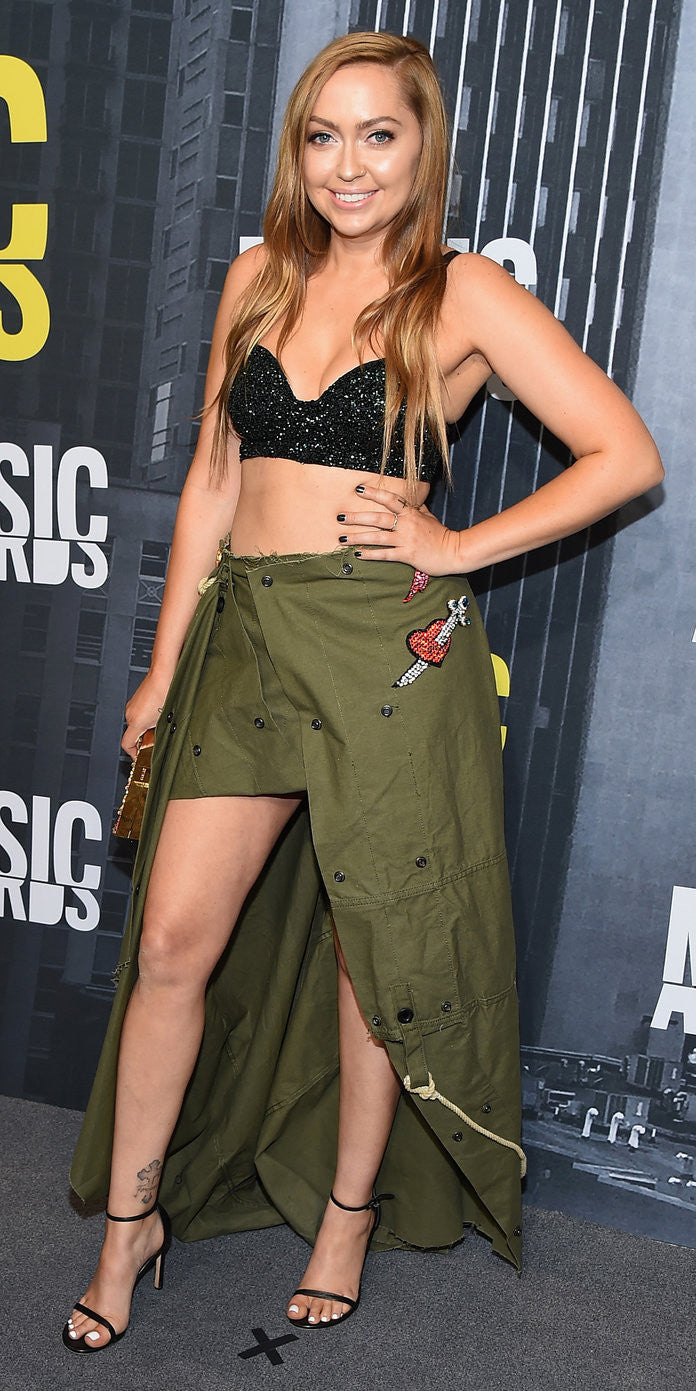 Brandi Cyrus on the Red Carpet at the CMT Music Awards Getty Images