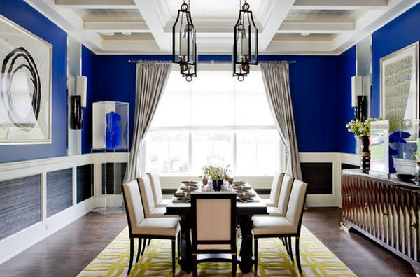 Cobalt Blue Dining Room from Homedit.com