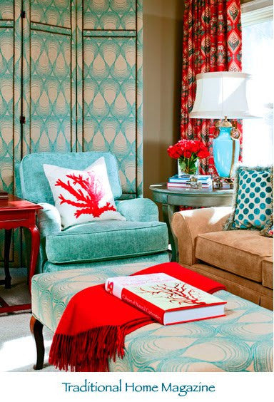 Mixed Patterns from Traditional Home Magazine