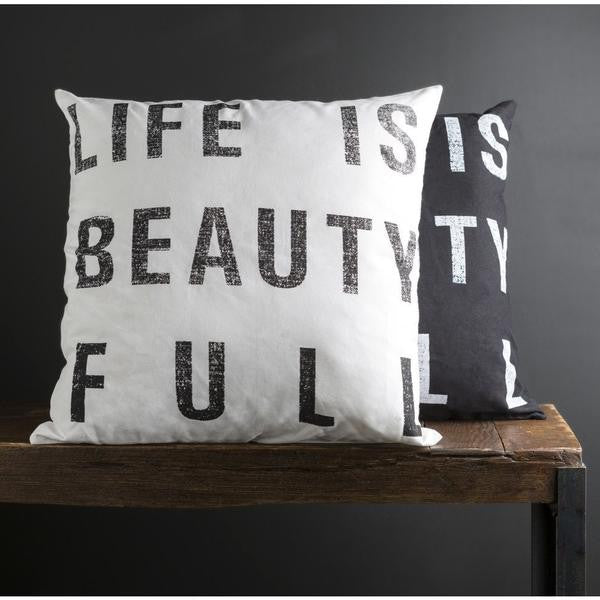 Surya Decorative Life is Beautiful Pillow