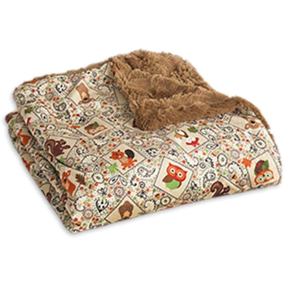 Camping Throw - Cozy Critters Tan