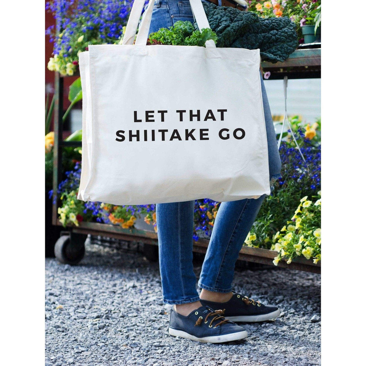 Let That Shiitake Go Tote by 24 Carrot Co.