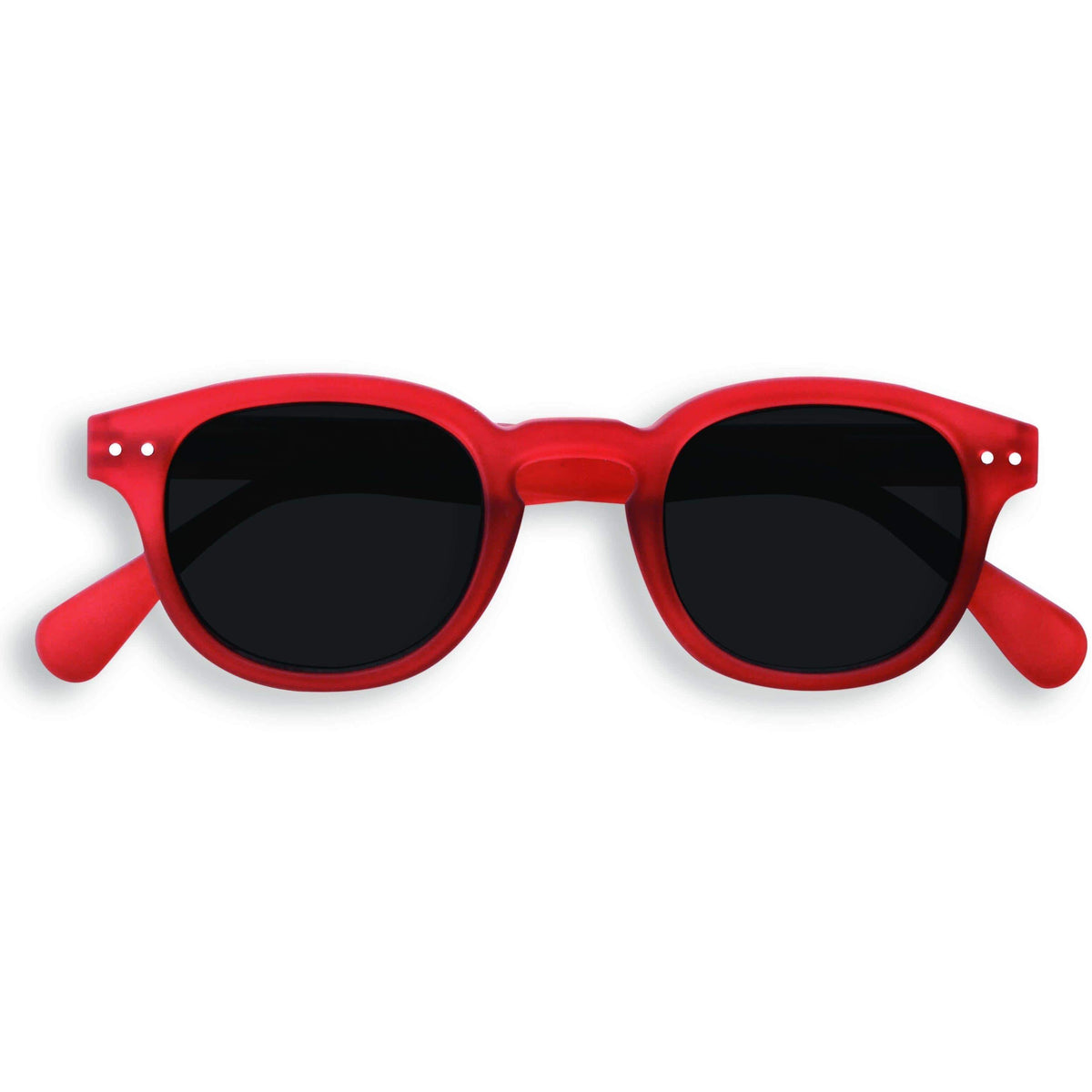 Izipizi Unisex Red Crystal Sunglasses Soft Grey Lenses