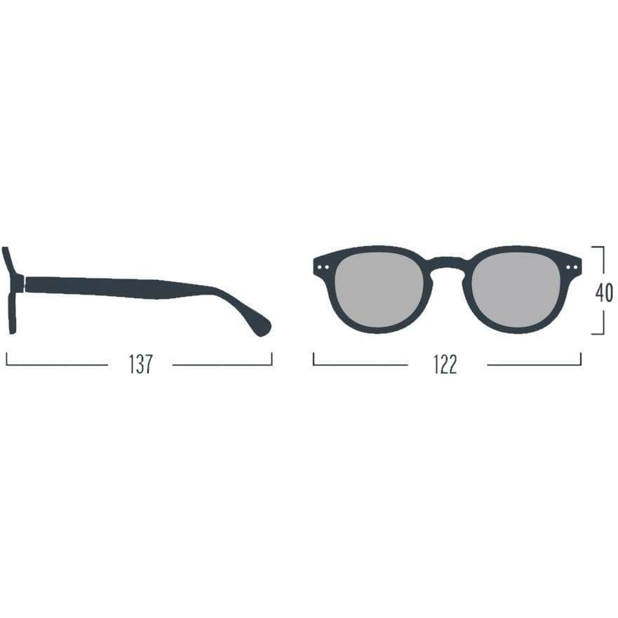 Izipizi Black Junior Sunglasses Soft Grey Lenses