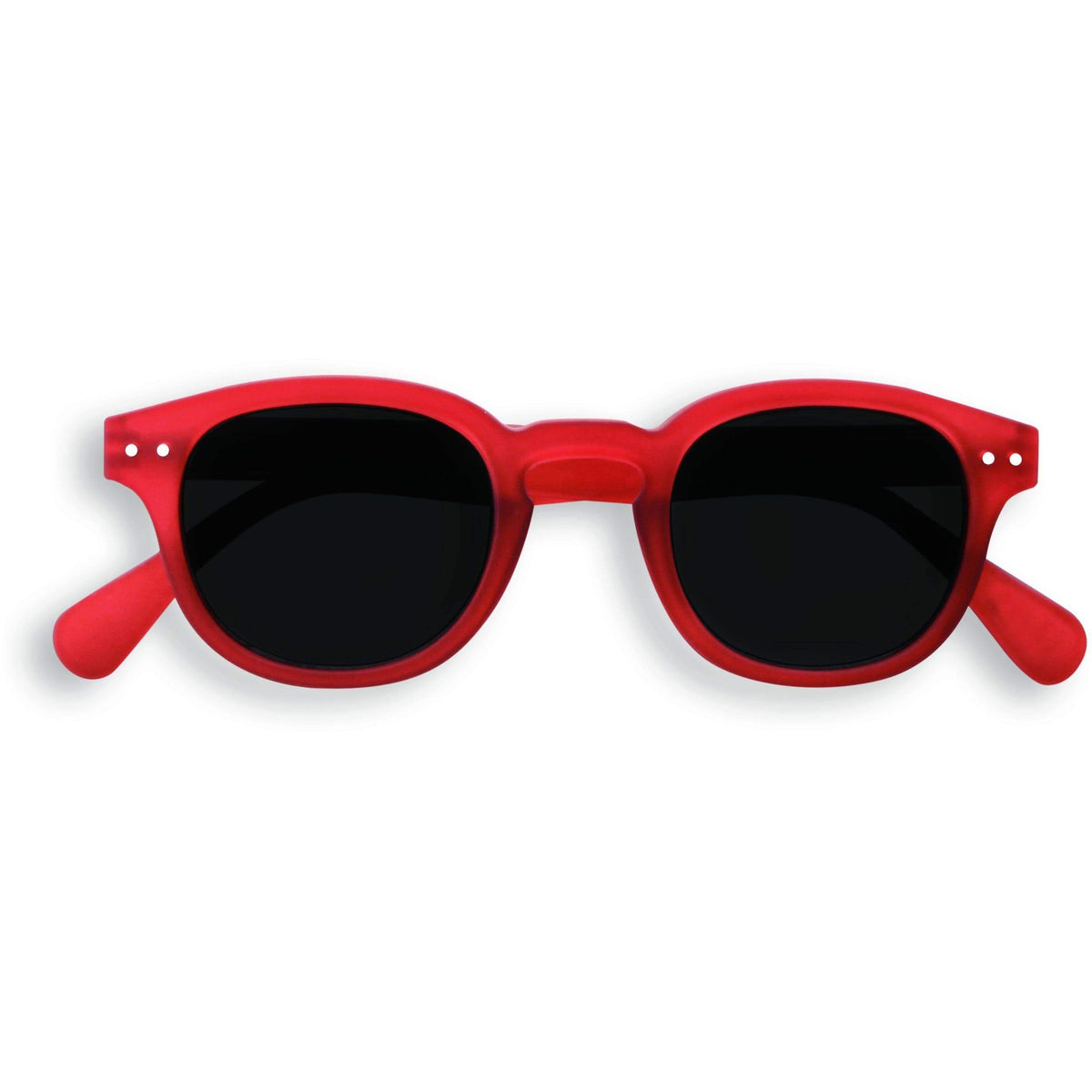 Izipizi Red Crystal Junior Sunglasses Soft Grey Lenses