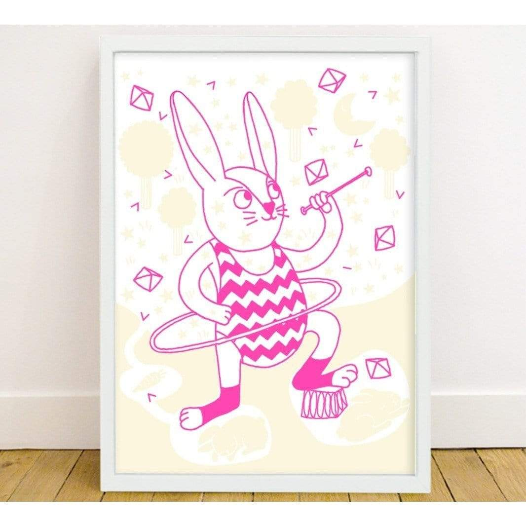 Glow In The Dark Poster - Bunny