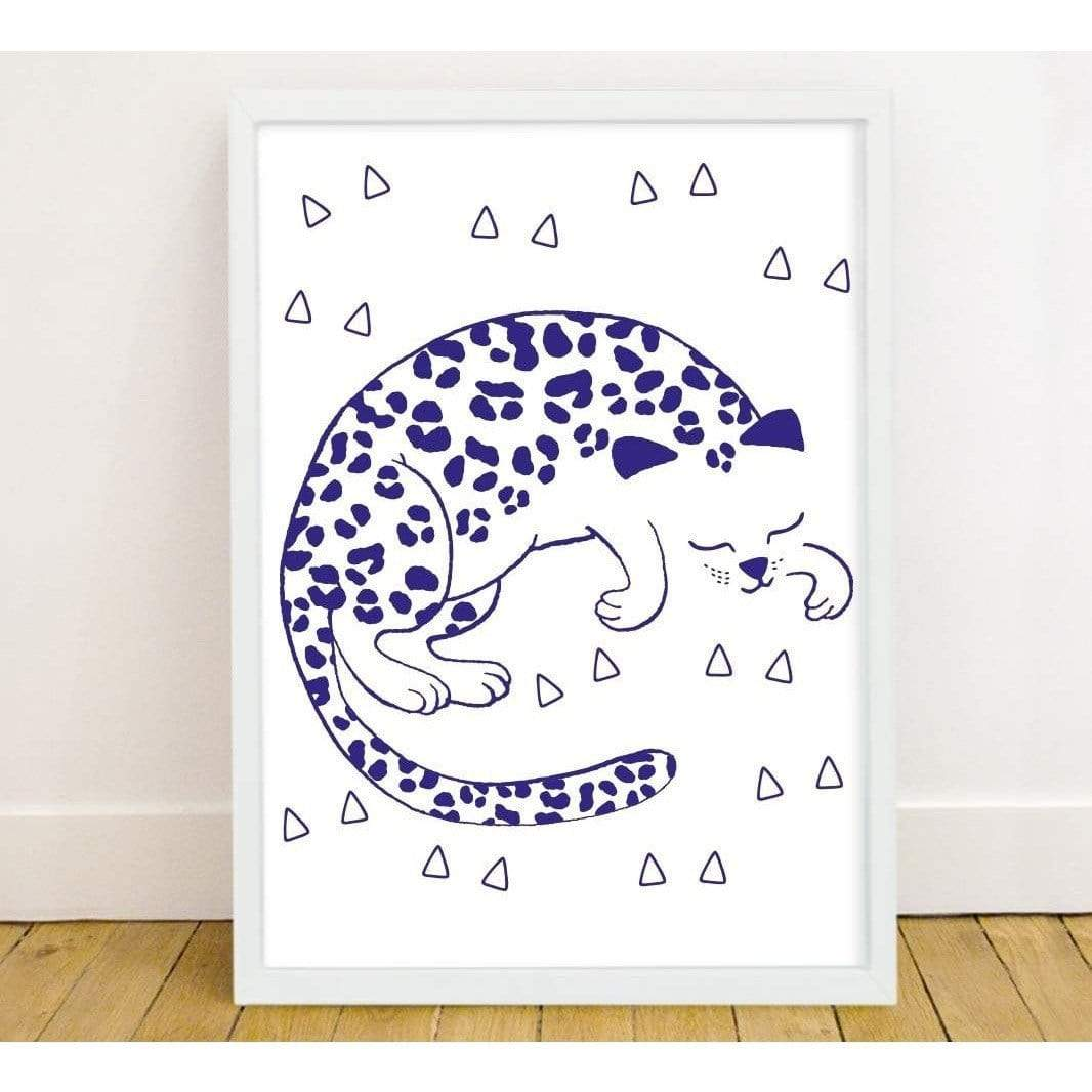 Glow In The Dark Poster - Leopard