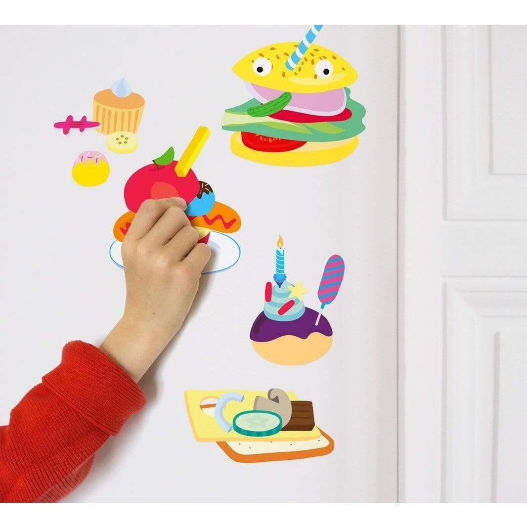 100 Wall Removable Reusable Stickers - Food