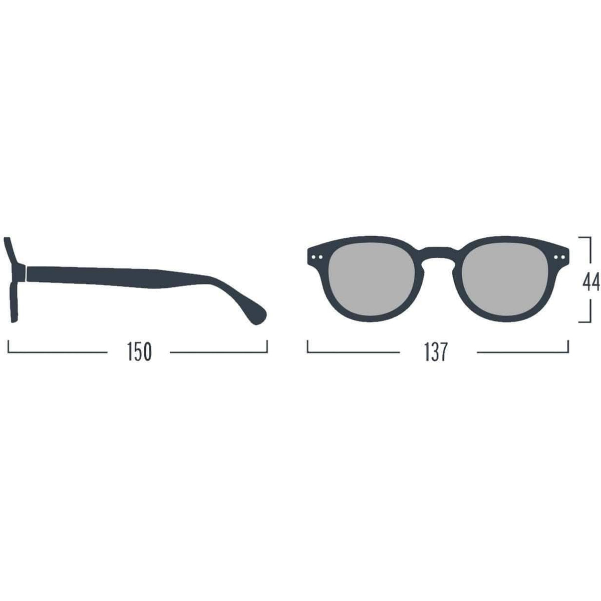 Izipizi Unisex Grey Sunglasses Soft Grey Lenses