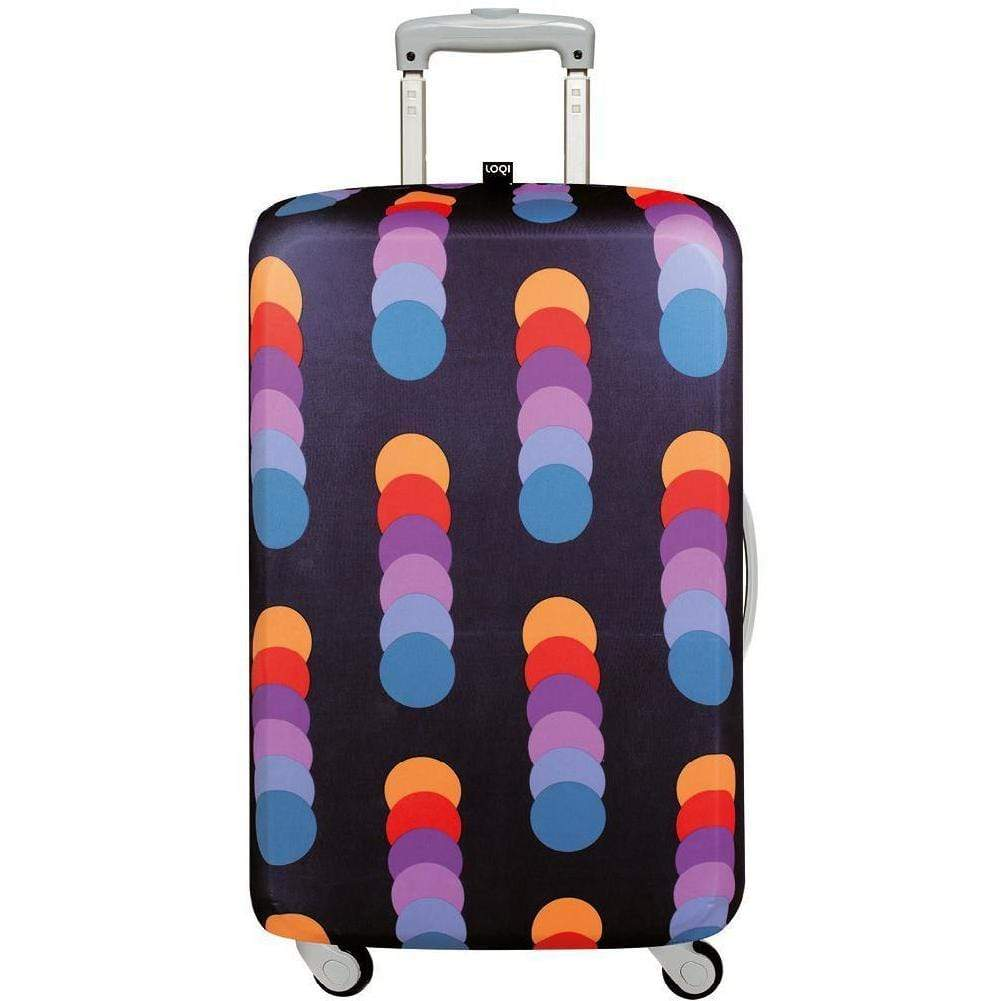 Loqi Water Resistant Luggage Cover - GEOMETRIC Circles